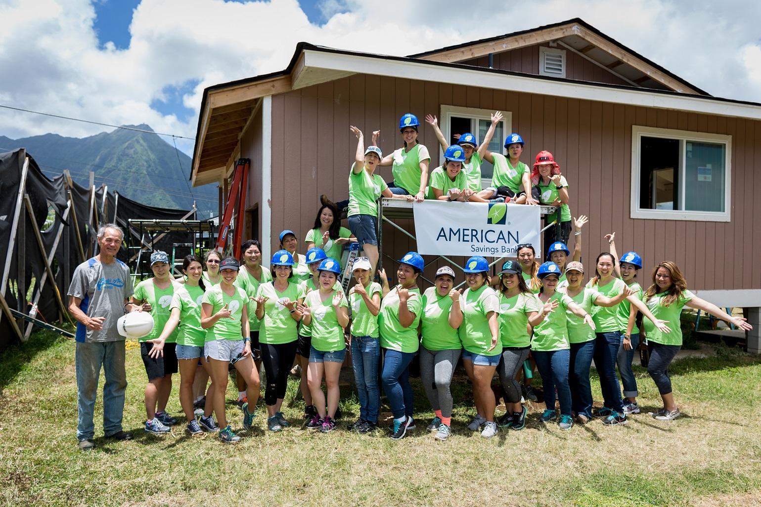 American Savings Bank Wahine Help Build New Habitat Home