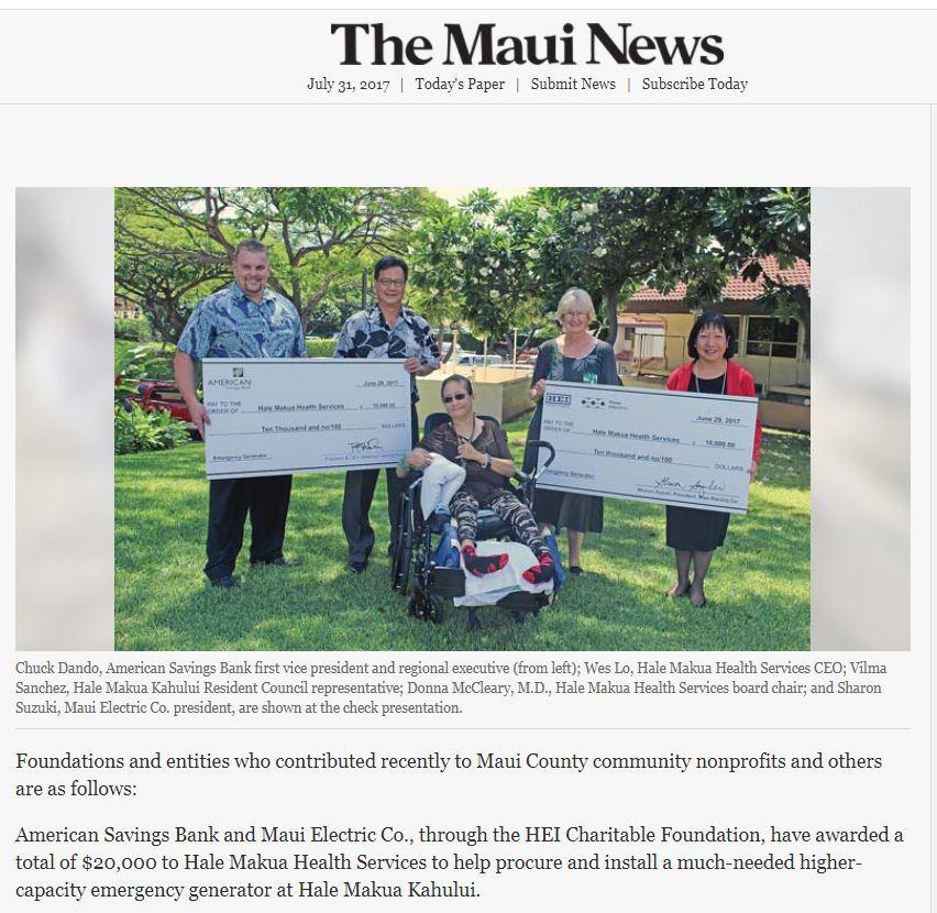 Maui News July 2017