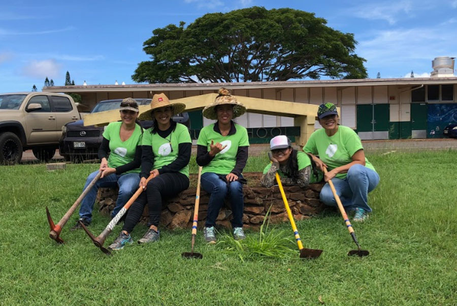 on Molokai, teammates came together at Kualapuu Public Conversion Charter School