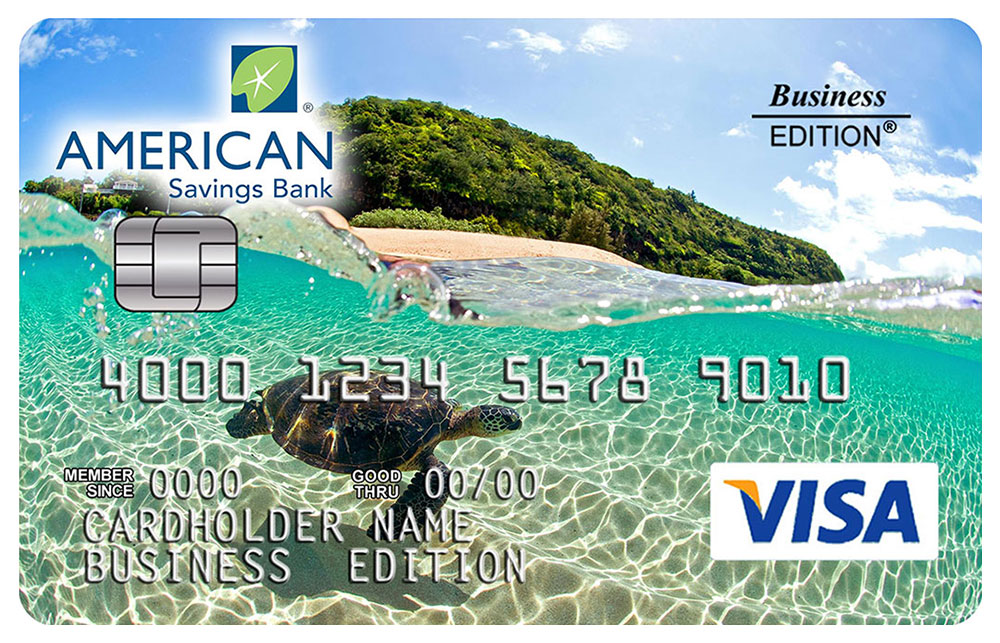 Business Secured Visa Credit Card American Savings Bank Hawaii