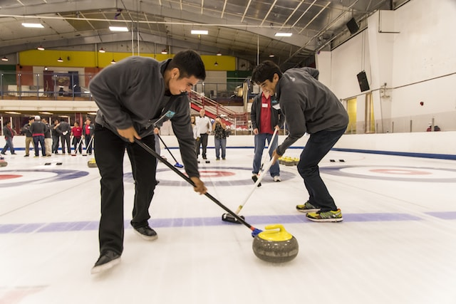 2014 curling event action photo