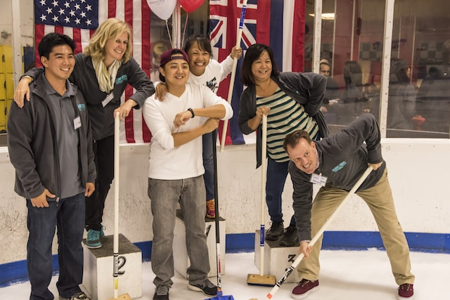 curling event 2014 group photo