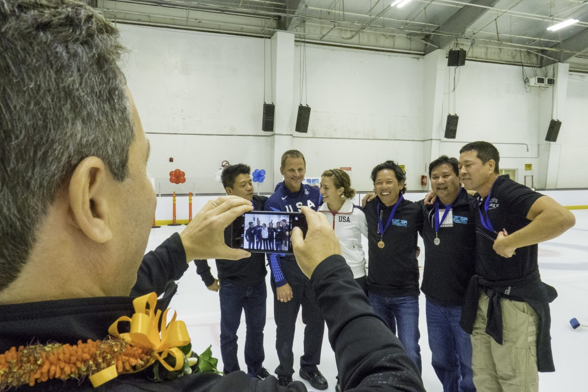 2015 curling event action photo