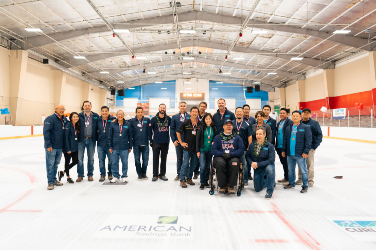 curling event 2019 group photo