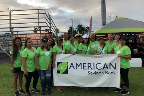 ASB Hilo Branch at Relay for Life