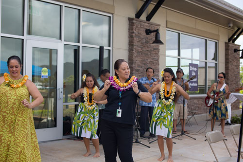 Hokulei Branch Grand opening hula