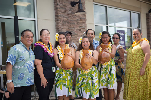 Hokulei Branch Grand opening hula group