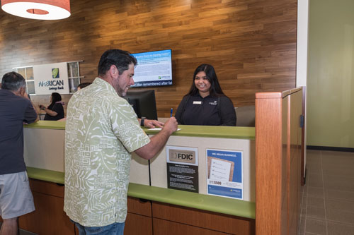 Kahului Branch Interior Customer