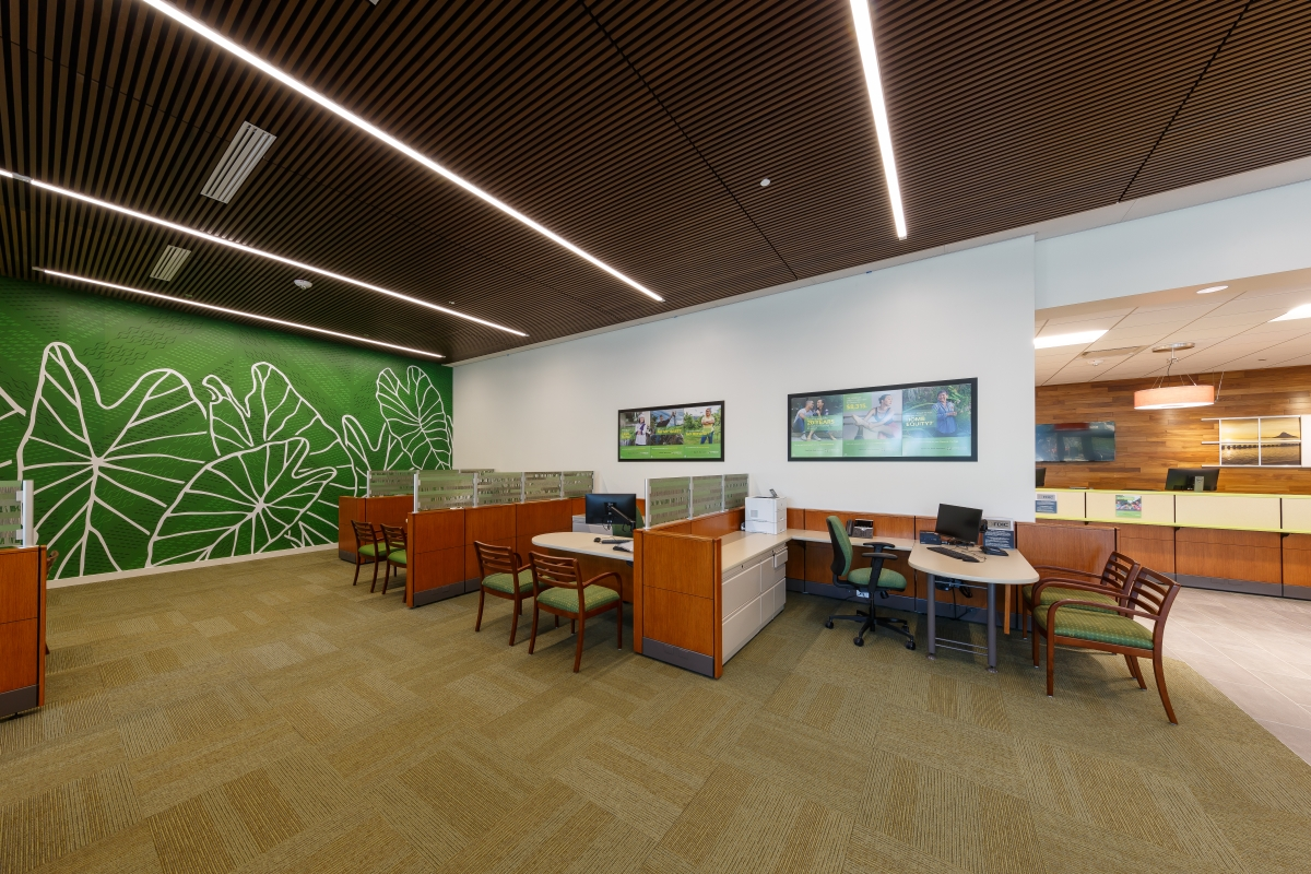 Campus Branch Interior Banker Offices