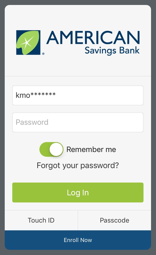 Secure Access Login Process | American Savings Bank Hawaii