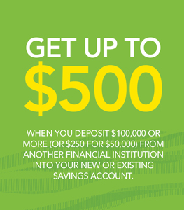 Get Up To $500 With Savings from American Savings Bank