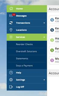 services screenshot