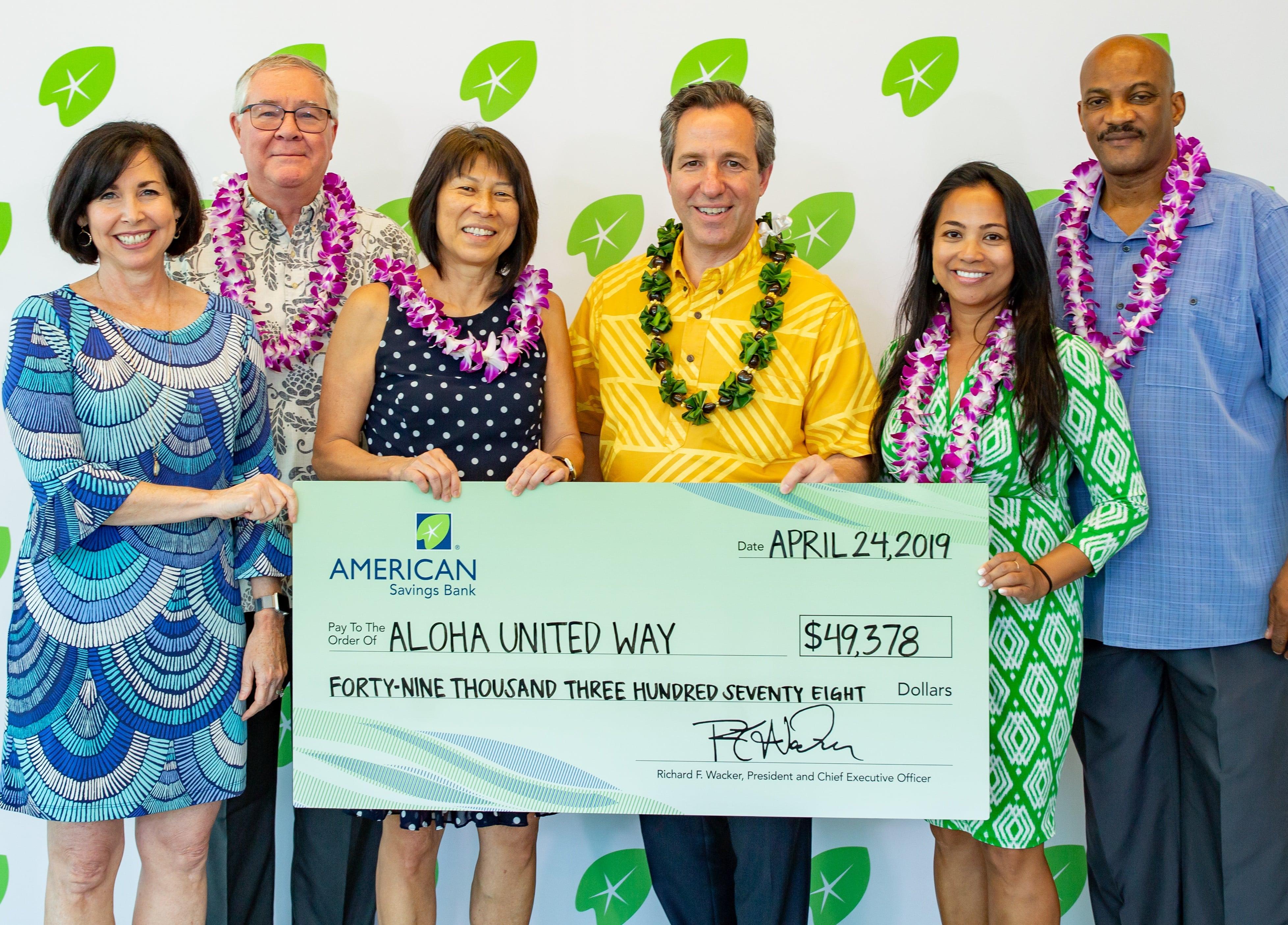 Aloha United Way Donation