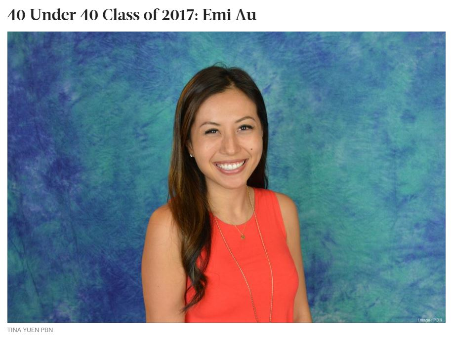 Emi Au, 34 First vice president, director of financial planning & analysis, American Savings Bank