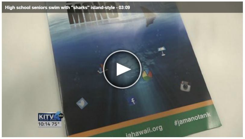 High School Seniors Swim with Sharks - Island Style